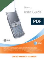 LG Shine User Manual