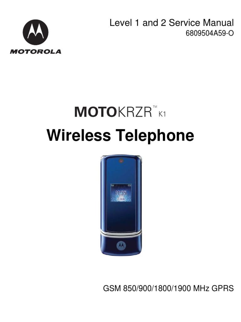 Motorola KRZR K1 Level 1&2 Service Manual | General Packet Radio Service |  Subscriber Identity Module