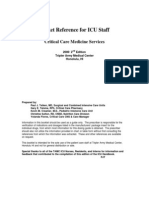 Pocket Reference for ICU Staff Critical Care Medicine Services