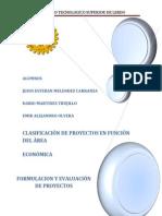 CLASIFICACIÓN DE PROYECTOS EN FUNCIÓN DEL ÁREA