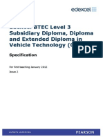 BN033598 – Specification – Edexcel-BTEC-Level-3-Subsidiary-Diploma-and-Extended-Diploma-in-Vehicle-Technology-(QCF)- Issue 2