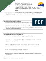 implementation plan - learning languages - te reo maori