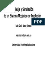Funcion de Transferencia Mecanica (Simulacion)