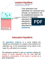 3. Adsorption Equilibria