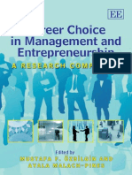 Career Choice in Management and Entrepreneurship