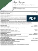 Ngoc Nguyen Teaching Resume PDF