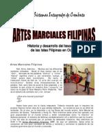 Historia de Las Artes Marciales Filipinas