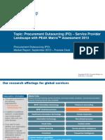 Procurement Outsourcing (PO) – Service Provider Landscape with PEAK Matrix™ Assessment 2013