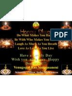 Deepavali Greetings From Dr Venu