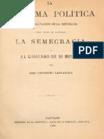 La reforma política. única salvación de la República. 1868