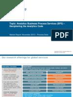 Role of analytics in BPO