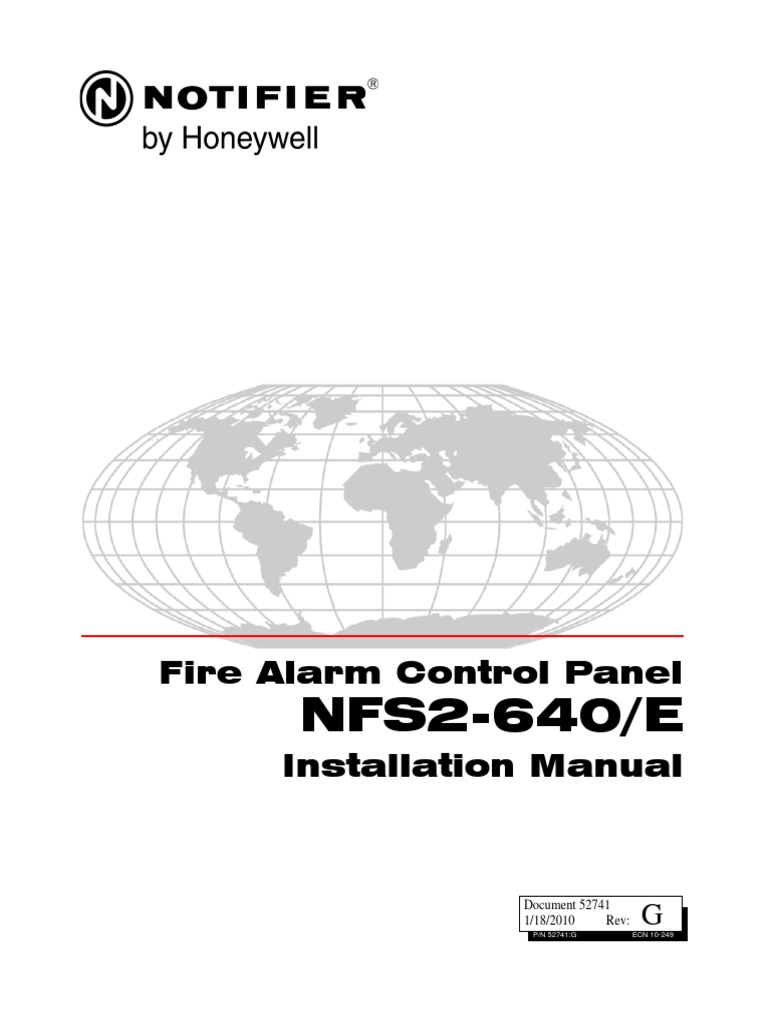 NFS2-640 Installation Manual 52741 | Fire Sprinkler System |  Electromagnetic Interference