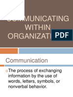 Communicating Within Organizations