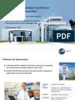 2013-11-20 MEDICA 2013 Feature Presentation Software for Pharmacies En