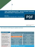 Capital Markets BPO - Service Provider Landscape with PEAK Matrix Assessment 2013