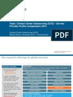 CCO Service Provider Profile Compendium