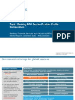 Banking BPO - Service Provider Profile Compendium 2013