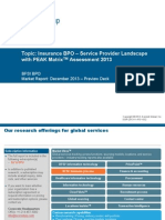 Insurance BPO - Service Provider Landscape with PEAK Matrix Assessment 2013