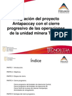 Integración del proyecto Antapaccay -  Cierre U.M.Tintaya