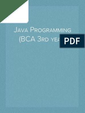 Java Programming (BCA 3rd year) | Control Flow | Java (Programming