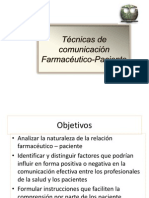 4. comunicación FARMACÉUTICO  paciente