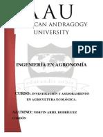 Investigacion en Agricultura Ecologica
