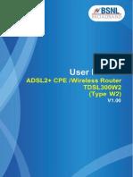 User Manual - TDSL300W2