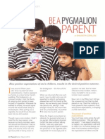 Be A Pygmalion Parent
