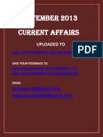 September 2013 Current Affairs