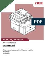 OKI MC361 561 LED printer Manual