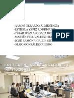 La Etica en La Organizaciones y Las Instituciones