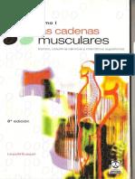 Las Cadenas Musculares Tomo 1 Tronco, Columna Cervical y Miembros Superiores