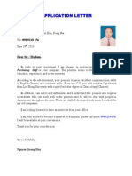 Nguyen Quang Huy -Application Letter