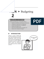 17115447 Topic 2 Budgeting