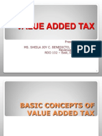 Lecture on Value Added Tax 2014