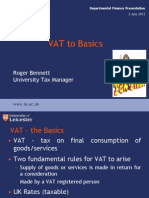 VAT the Basics Training 3 July 2012 2
