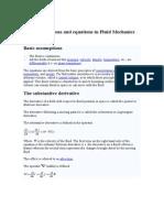 Basic Assumptions and Equations in Fluid Mechanics