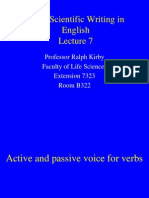 Basic Scientific Writing in English - Lecture 6