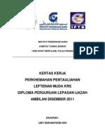 Kertas Kerja Perkhemahan KRS - Dpli