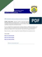 Twitter PRF Intercept A Carga de Drogas Que Seguia Para Santa Catarina