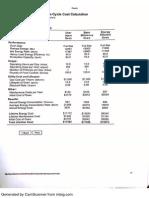 equipment list comparison sheets