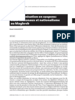 LA DÉCOLONISATION EN SUSPENS  ETATS NATIONAUX ET NATIONALISME AU MAGHREB