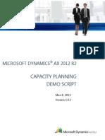 SCM Demo Script - Capacity Planning