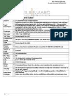 Guillemard Suites Factsheet