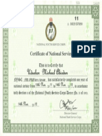 NYSC CERTIFICATE