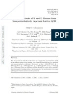 Decay Constants of B and D Mesons from Non-perturbatively Improved Lattice QCD