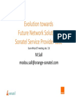Modou Sall Evolution -Towards Future Network Solutions - Sonatel Service Provider Case