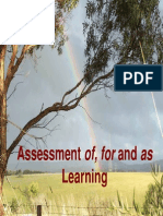 Assessment of for as Learning