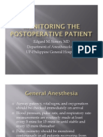 Monitoring the Post-op Patient