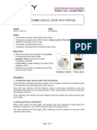 GESE Grade 1 - Lesson Plan 1 - Colours, Body and Clothing (Final)